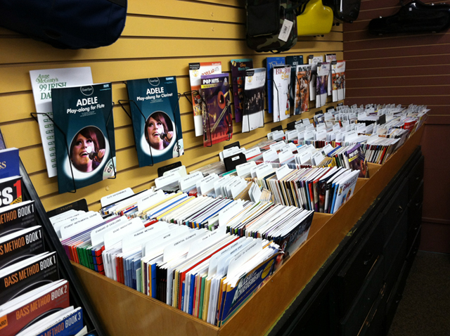 Great selection of sheet music at The Symphony Music Shop, North Dartmouth, MA