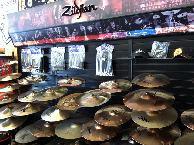 Drum sets, cymbals, drum kits, drum hardware, and drum accessories at The Symphony Music Shop in North Dartmouth, MA