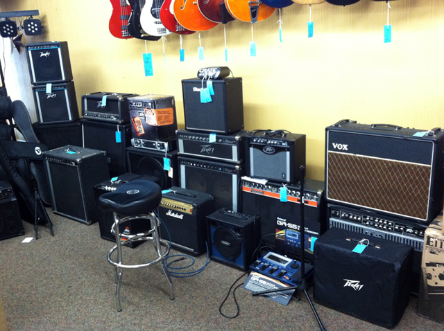 Amps, sound systems, & P. A. systems at The Symphony Music Shop, North Dartmouth, MA