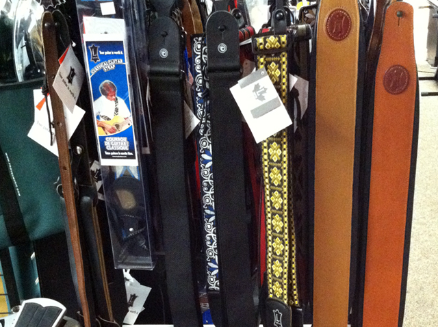 Guitar straps at The Symphony Music Shop in North Dartmouth, MA